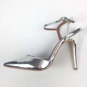 Steve Madden Shoes - Steve Madden Silver Metallic Pizzel Pump Sz 11